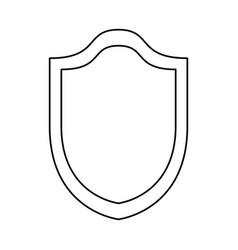 shield security emblem vector image vector image