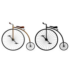 a high wheeler bike vector image