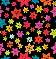 Abstract Colorful Flowers Seamless Pattern vector image vector image
