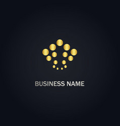 abstract dot company gold logo vector image