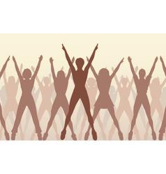 aerobic dance vector image