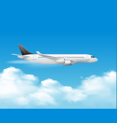 Airplane over top composition vector