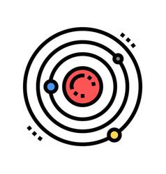 atom core color icon isolated vector image