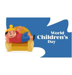 banner design of world children day vector image