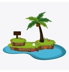 Beach design palm tree icon colorful vector