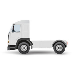 Big truck tractor for transportation cargo vector