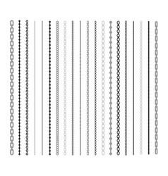 Black lines chain flat set vector