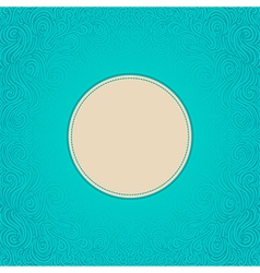 blue abstract frame vector image