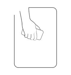 Border smartphone in hand 10 vector