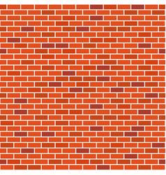 brick wall seamless pattern red bricks vector image
