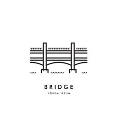 Bridge outline logo vector