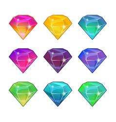 Brilliant diamonds in different colors vector