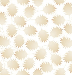 Brown pointy leaves in a seamless pattern vector