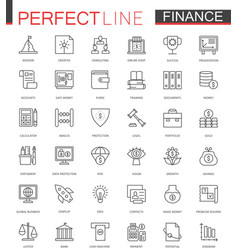 Business finance thin line web icons set money vector