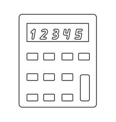 Calculator the black color icon vector