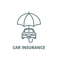 car insurance line icon car insurance vector image