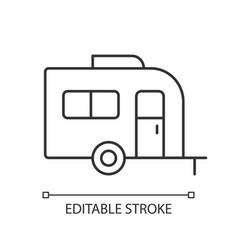 Caravan linear icon vector