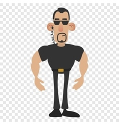 Cartoon security man vector