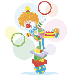 Clown juggler and equilibrist vector