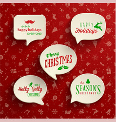 Collection holiday speech bubbles with various vector