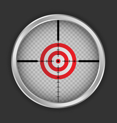 Crosshair target icon realistic style vector