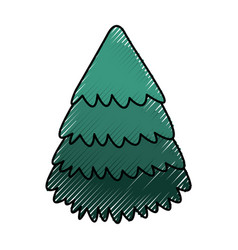 Cute scribble christmas tree vector