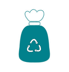 Dotted shape garbage bag object with biodegradable vector
