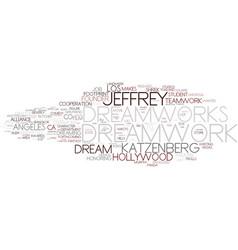 dreamwork word cloud concept vector image