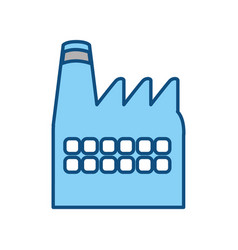 Factory building symbol vector