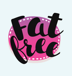 fat free stamp vector image