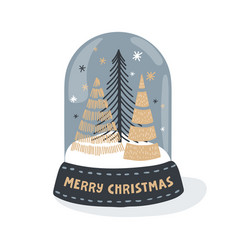flat christmas decoration vector image