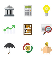 flat icon incoming set of money box bubl vector image