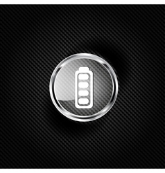 Full battery web icon vector image