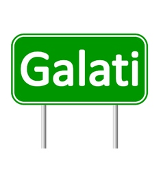 Galati road sign vector image