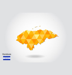 geometric polygonal style map of honduras low vector image