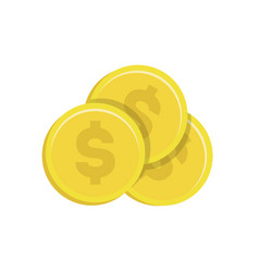 Gold coin with dollar sign icon vector