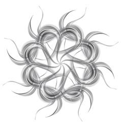 Grey silver wavy pattern shape vector image