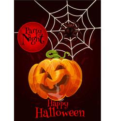 Happy halloween pumpkin scary greeting card vector