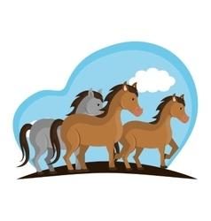 Horse animal farm icon vector
