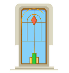 house decor window with metal decor and color vector image