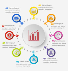 Infographic template with loan icons vector