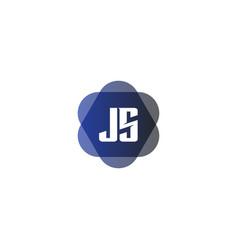 Initial letter logo js template design vector