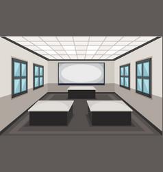 Interior of classroom scene vector