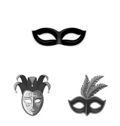 Isolated object venezia and festival logo set vector