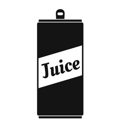 juice can icon simple style vector image