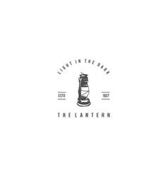 lantern vintage silhouette logo vector image