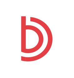letter b and d logo company vector image