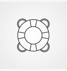 lifebuoy icon sign symbol vector image