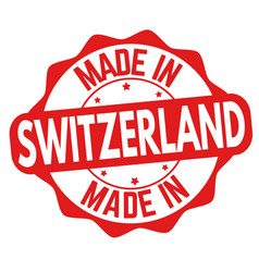 made in switzerland sign or stamp vector image