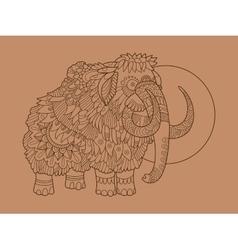 Mammoth hand drawn vector